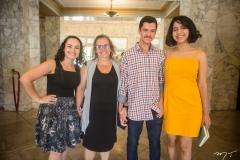 Raquel, Elenita, Lucas Martins e Alana Shelda