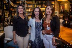 Sheyla Oliveira, Lucy Ribeiro e Elmer Aragão