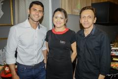 Edi Nogueira, Renata Aguiar e Cláudio Correia
