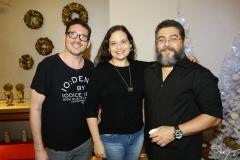 Márcio Dias, Letícia e Fabiano Silveira