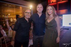 Raphael Sahyoun, João Cateb Melo e Ana Paula Daud