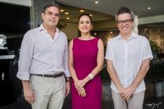 Edson Queiroz Neto, Manoela Bacelar e Fabiano Piúba