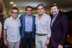 Fabiano Piúba, Juvêncio Viana, Edson Queiroz Neto e Élcio Batista