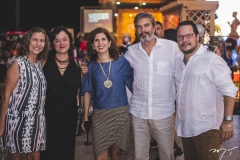 Nieges Xavier, Ana Peyroton, Luciana Santana, Thiago Santana e Roberto Freire