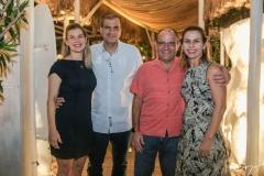 Sofia, Alexandre, Rodrigo e Adriana Sales