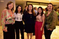 Renata Santiago, Aurilene Lemos, Patricia Molino, Darla Lopes e Ethel Whitehurst