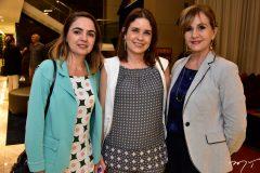 Tatiana Belém, Rocaia Dutra e Cristina Barreira