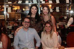 Sellene Câmara, Rebeca Campos, Alfredo e Ticiana Lima
