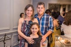 Roseane Dias, Sofia Dias e Cláudio Albuquerque