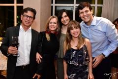 Aderbal Jr., Giuliane e Marcela Alves, Rejane e Nercy Barros
