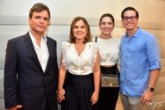 André e Gyna Jucá, Marina Brandão e Diego Jucá