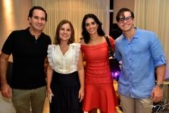 Felipe Felício, Gyna Jucá, Juliana Felício e Diego Jucá