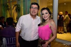 Juan Carlos Javier e Ticiana Nogueira