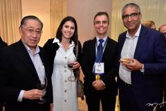 Walter Takahashi, Júlia Fahar, Eduardo Rodrigues e Amil Karane