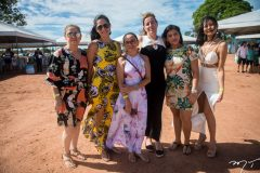 Claudia Cardoso, Bianaca Soares, Maria Gomes, Eliza Lombardi, Geovana Braga e Auricelia Trindade