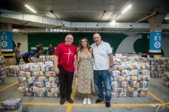 Pe. Eugênio, Márcia e Fernando Travessoni