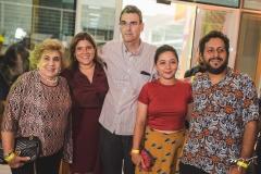 Consuelo Dias Branco, Gisela Vieira, Geraldo Luciano, Tereza Dequinta e Robezio