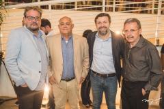 Paulo Linhares, Durval Aires, Élcio Batista e Egídio Serpa