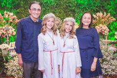 Irineu Costa, Maria Eduarda Montenegro, Maria Cecília Montenegro e Wedja Costa
