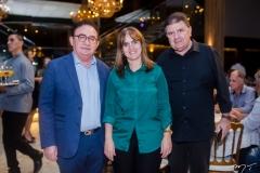 Manuel Linhares, Clice Gurgel e Jacob Otoch