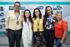 Lucas Santos, Marília Dantas, Kalinka Macedo, Camila Maciel e Guilhermina Oliveira