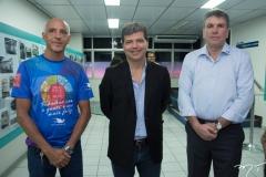 Roger Santos, Mauro Albuquerque e Sérgio Saboia
