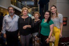Juarez Martins, Meire Meyer, Neusa Pinheiro, Nilzete Meyer e Fernanda Nepomuceno