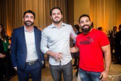 Roberto teles, Caio Pontes e Airton Junior