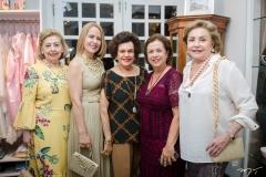 Lucia Pierre, Tereza Ximenes, Constancia Tavora, Júlia Philomeno e Helena Cidrão