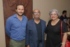 Thiago Braga, Roberto Galvão e Regina Raick