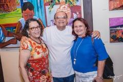 Arminda Cardoso, Stênio Burgos e Beth Aragão