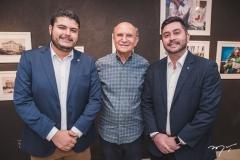 Allan Damasceno, João Soares Neto e Júlio Cals