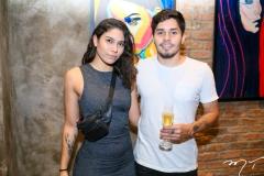 Raquel Santiago e Arthur Luz