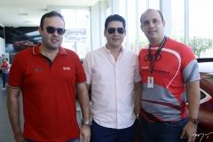 Célio Gurgel, Rosalvo Carneiro e Marcelo Feitosa