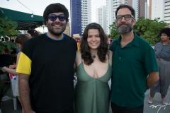 Gabriel Baquit, Fernanda Beviláqua e Keith Harris