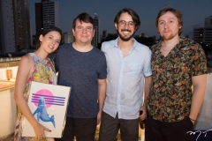 Raquel Saturno, Bruno Braga, Diego Pascoal e João Victor
