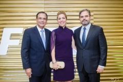 Beto Studart, Ticiana e Edson Queiroz Neto