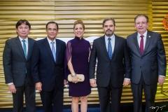 Edgar Gadelha, Beto Studart, Ticiana e Edson Queiroz Neto e Ricardo Cavalcante