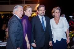 Pio Rolim, Ticiana e Edson Queiroz Neto e Stella Rolim