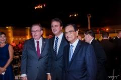 Ricardo Cavalcante, Camilo Santana e Beto Studart