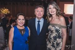 Regina Pinho, Maurício Filizola e Laura Paiva