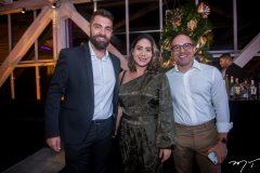 Davi Fernandes, Leonora Coimbra e Érico Brasileiro