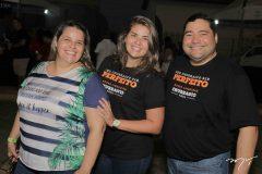 Naara Barros, Barbara Florencio e Andre Figueiredo