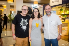 Joarez Jr., Carmen Marques e Edilson Jr.