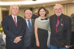 Dieter Gerding, Eduardo Bezerra, Maria Koenning e Hans-Jürgen Fiege