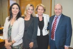 Marlene Pinheiro, Stephanie Dorner Falcão, Ingrid Gerting e Sven Richard