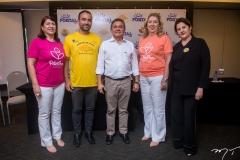 Sandra Salgado, Reno Verçosa, José Porto, Rosangela Formentin e Liduina Donato