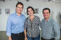 Marcelo Pinheiro, Manoela Nogueira e Felipe Nottingham