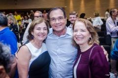 Ana, Beto Studart e Angela Cunha