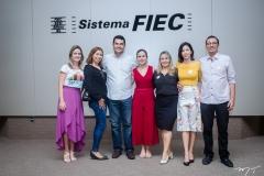 Lilian Fontele, Elizabeth Soares, Iraguassu Filho, Alessandra Freitas, Darlene Braga, Sabriana Veras e Hugo Andrade